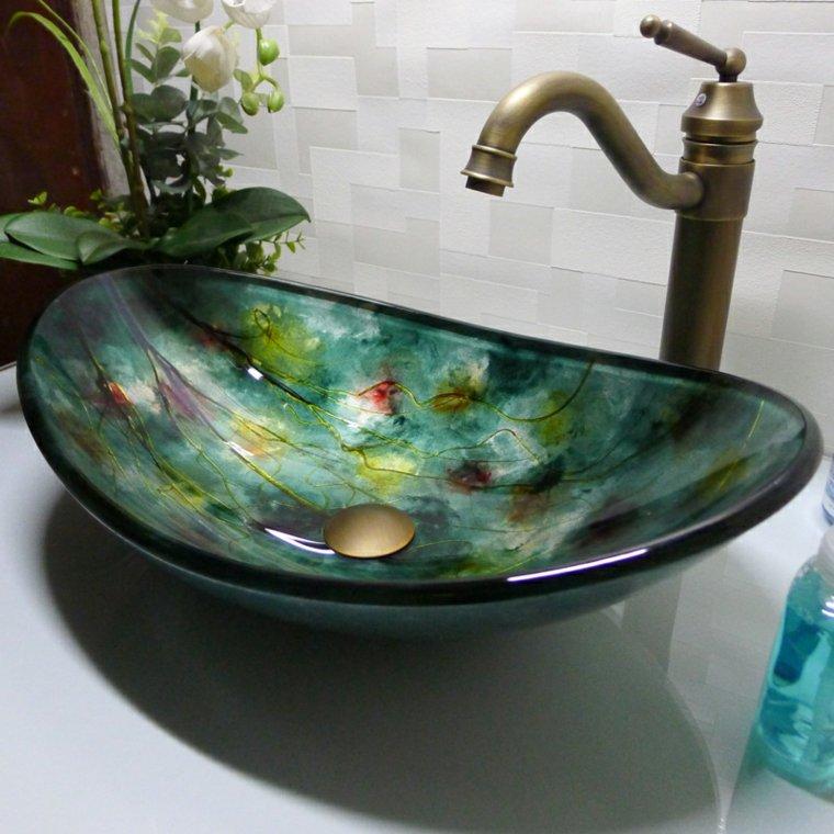 lavabos de cristal originales decorar