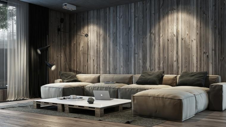 lineas verticales madera salon rustico