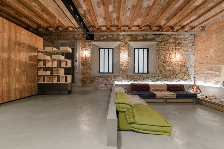 loft sala estar madera