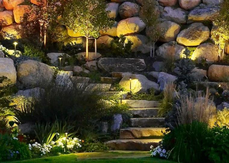 luces indirectas piedras led diseño