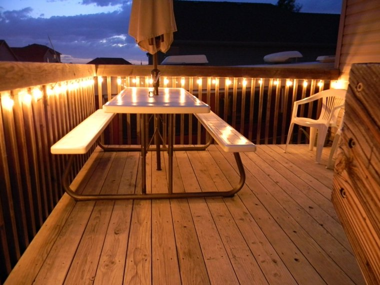 luces Led terraza sencilla