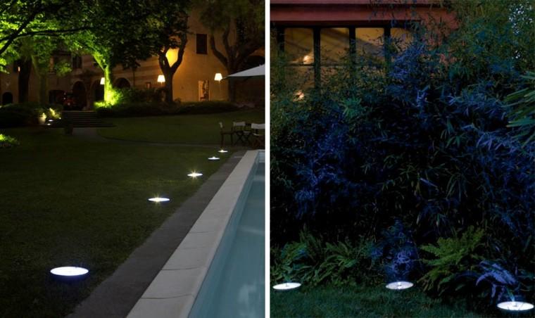 luces redondas suelo jardin