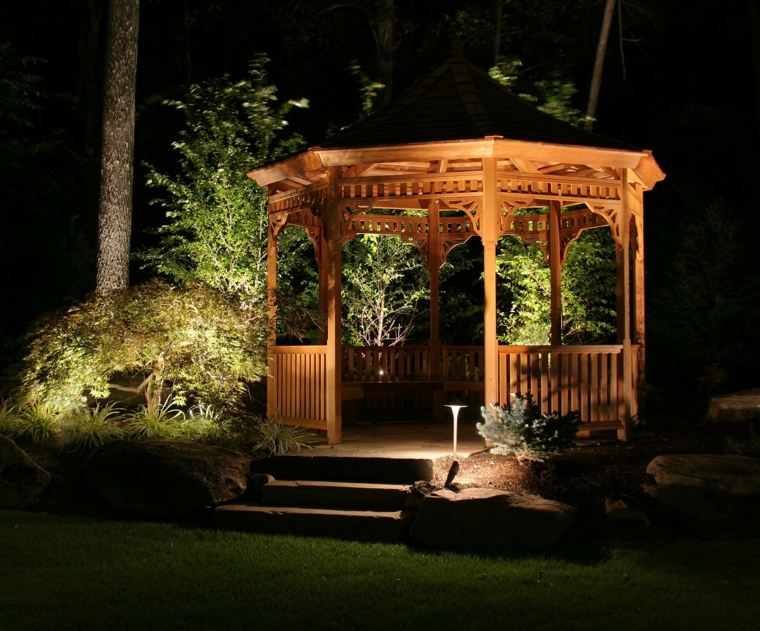 luces Led pergola jardin