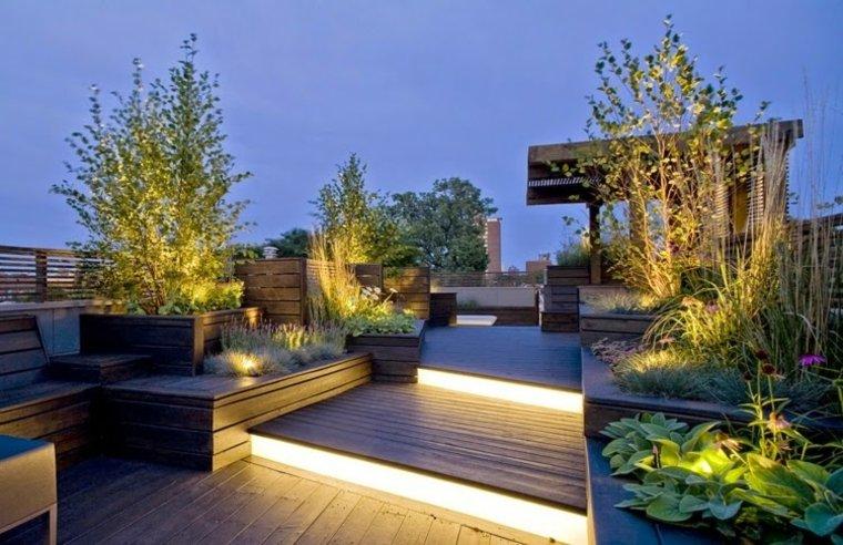 luces indirectas escalones terraza