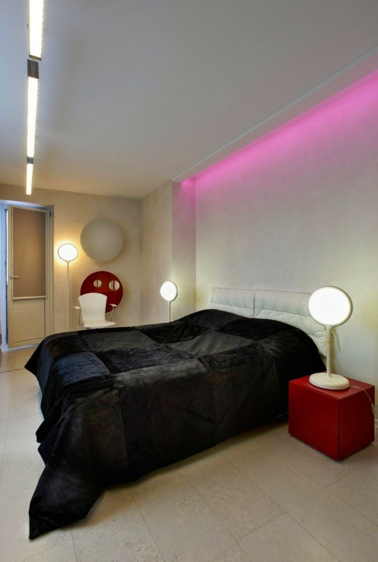 luz led de color rosa
