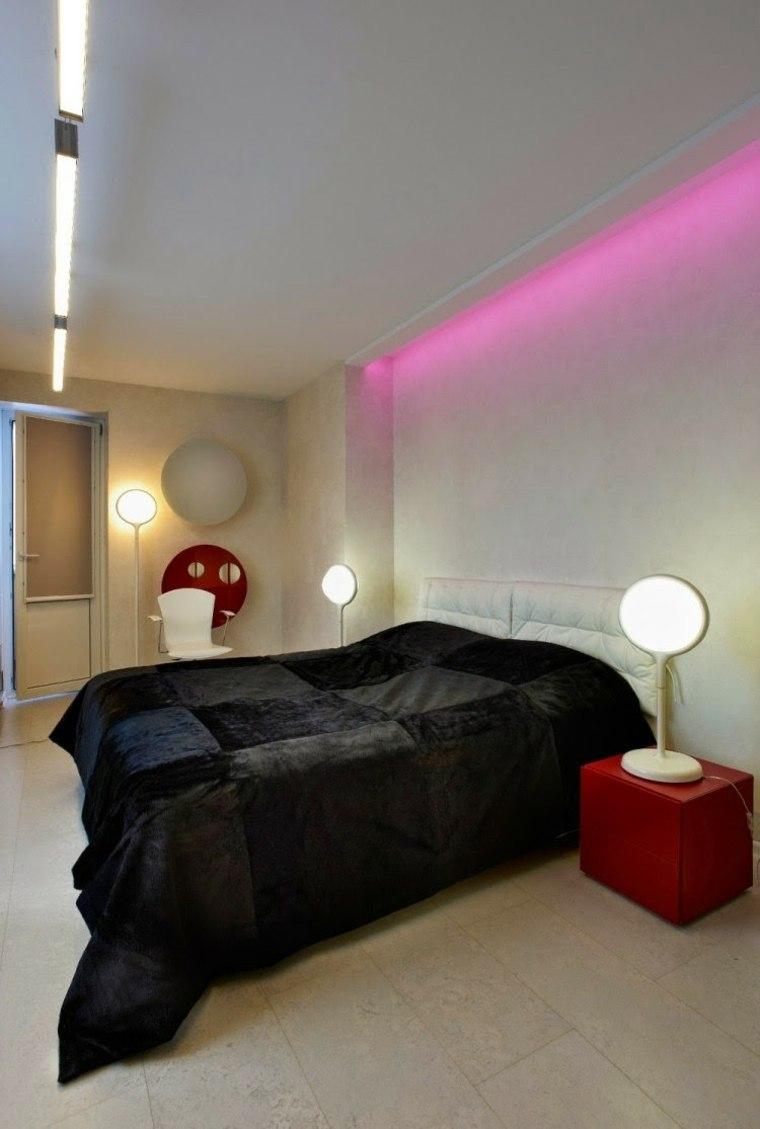 luz led de color rosa