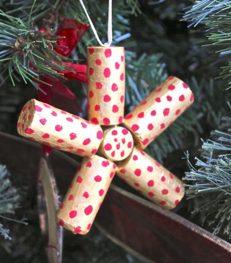 manualidades con corchos adornos arbol estrella corchos ideas