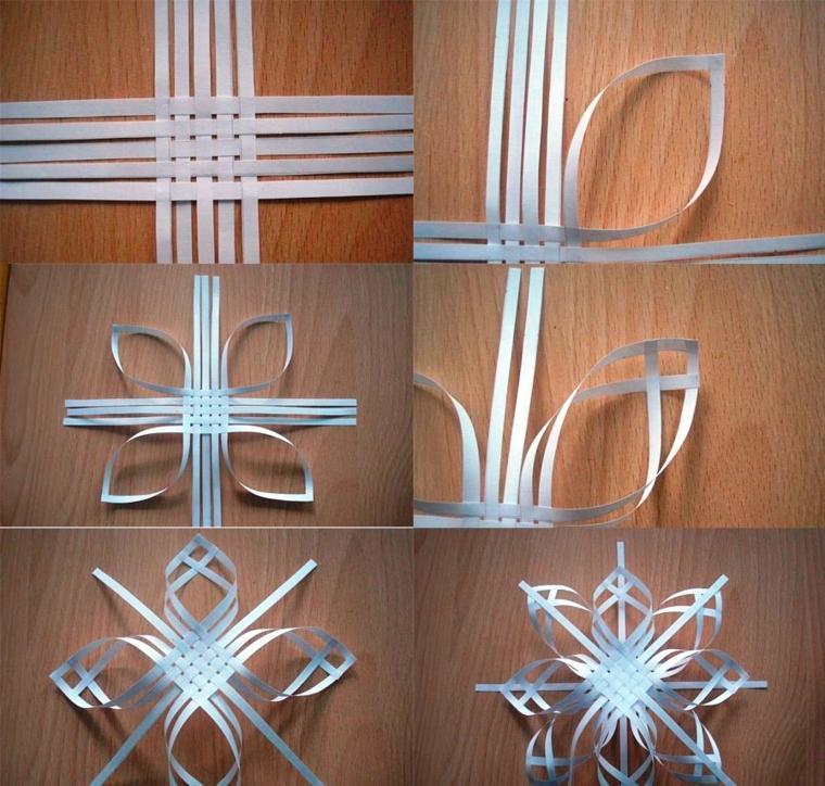 manualidades de navidad para ninos copos nieve papel ideas