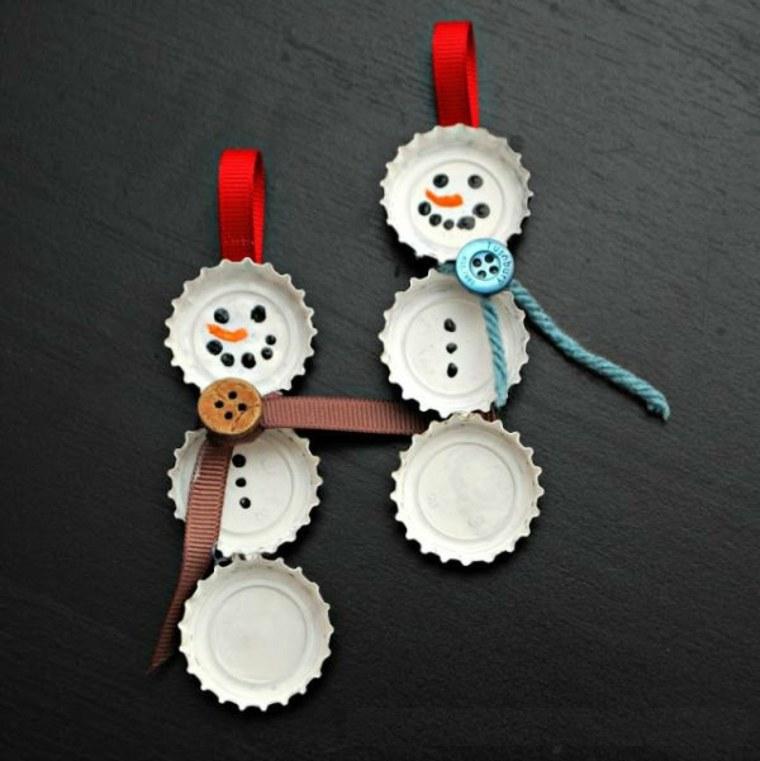 manualidades de navidad para ninos munecos nieve ideas