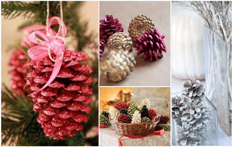 manualidades de navidad para ninos pina pintada ideas