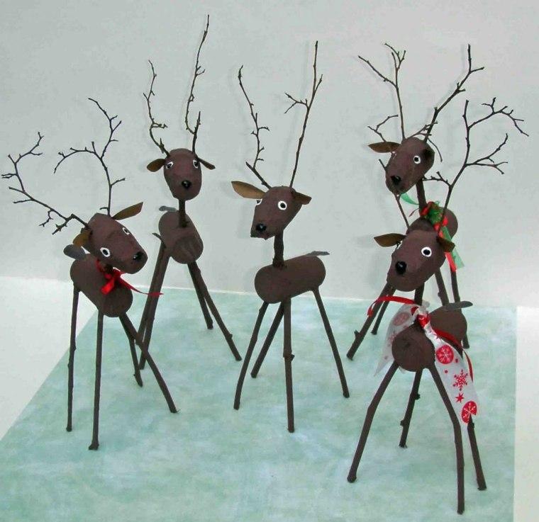 manualidades de navidad para ninos renos corcho ideas