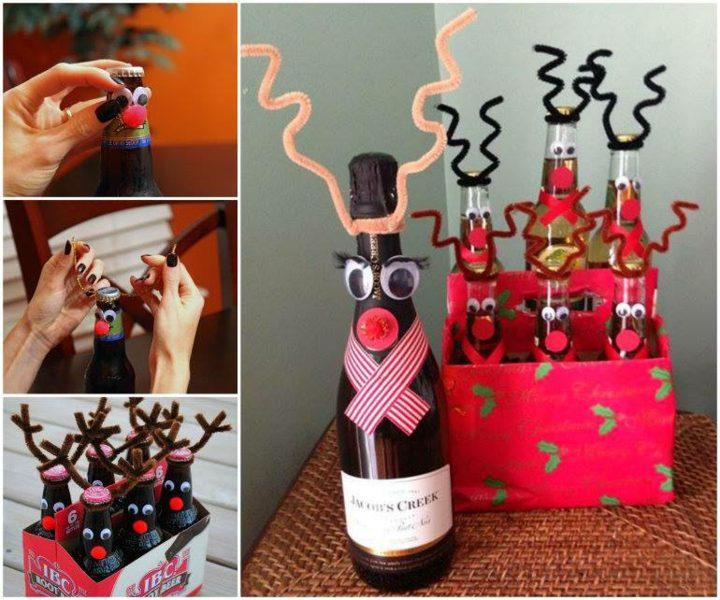 manualidades navidad reciclaje botellas diferente