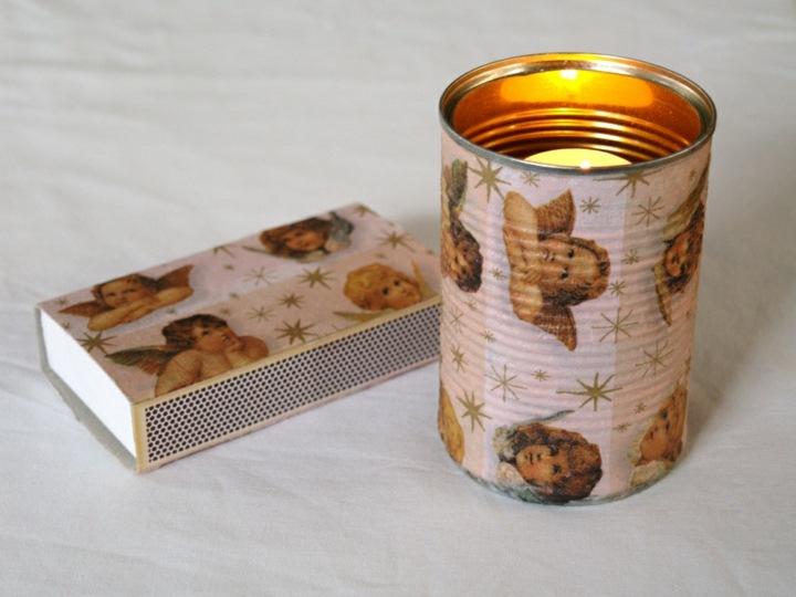 manualidades navidad reciclaje candelabro concepto