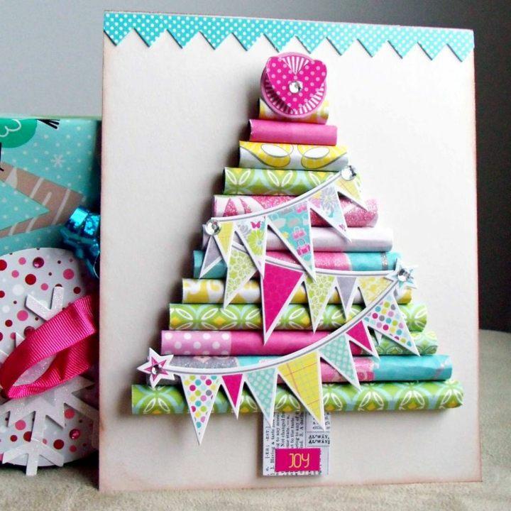 manualidades navidad reciclaje cartones efectos colorido