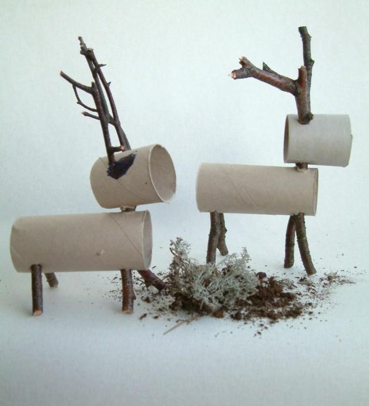 manualidades navidad reciclaje cartones colores