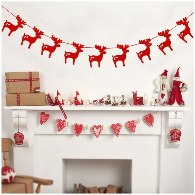 Manualidades navide as para decorar el interior for Decoracion de navidad para oficinas