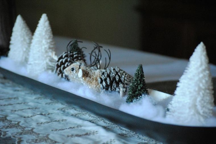 manualidades navideñas con piñas decorar