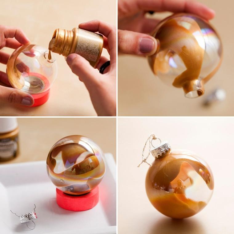 manualidades navideñas decorar bolas