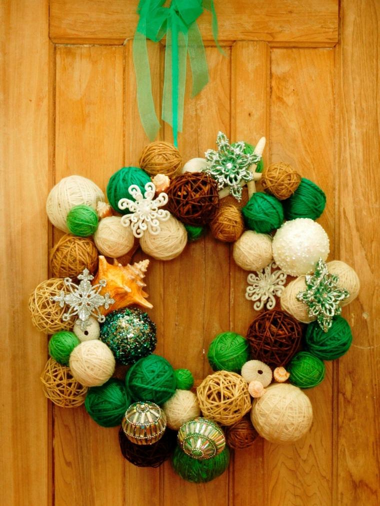 manualidades navideñas decorar puerta