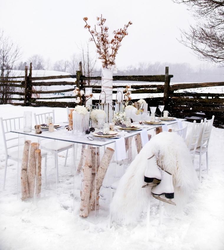 mesa boda exterior invierno disneo ideas