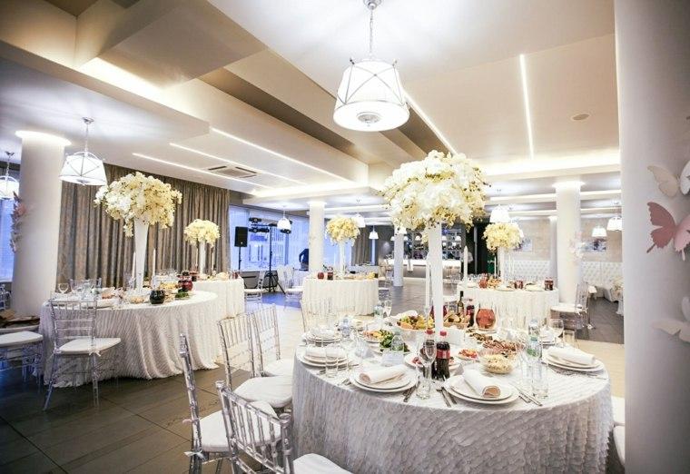 mesa centros flores boda invierno diseno ideas