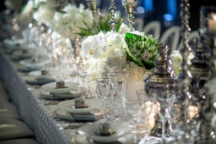mesa decorada boda invierno opciones ideas