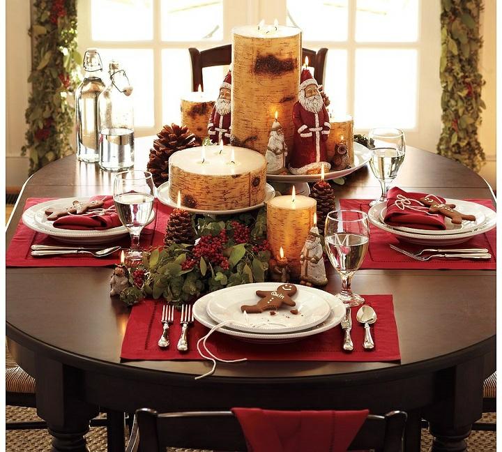 mesas de comedor decoracion papa noel naturaleza
