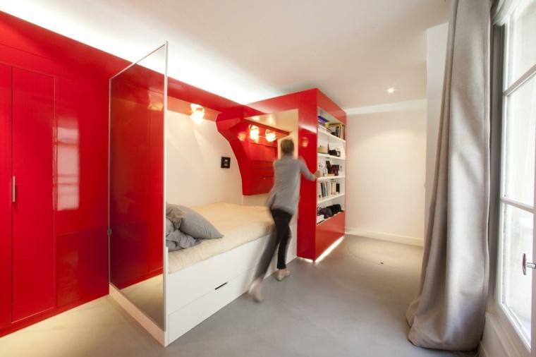 Apartamentos peque os funcionales y modernos for Apartaestudios pequenos