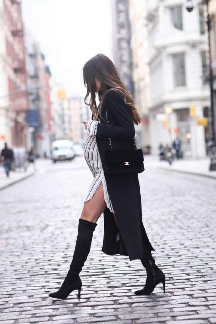 moda premama diseno invierno lujoso ideas