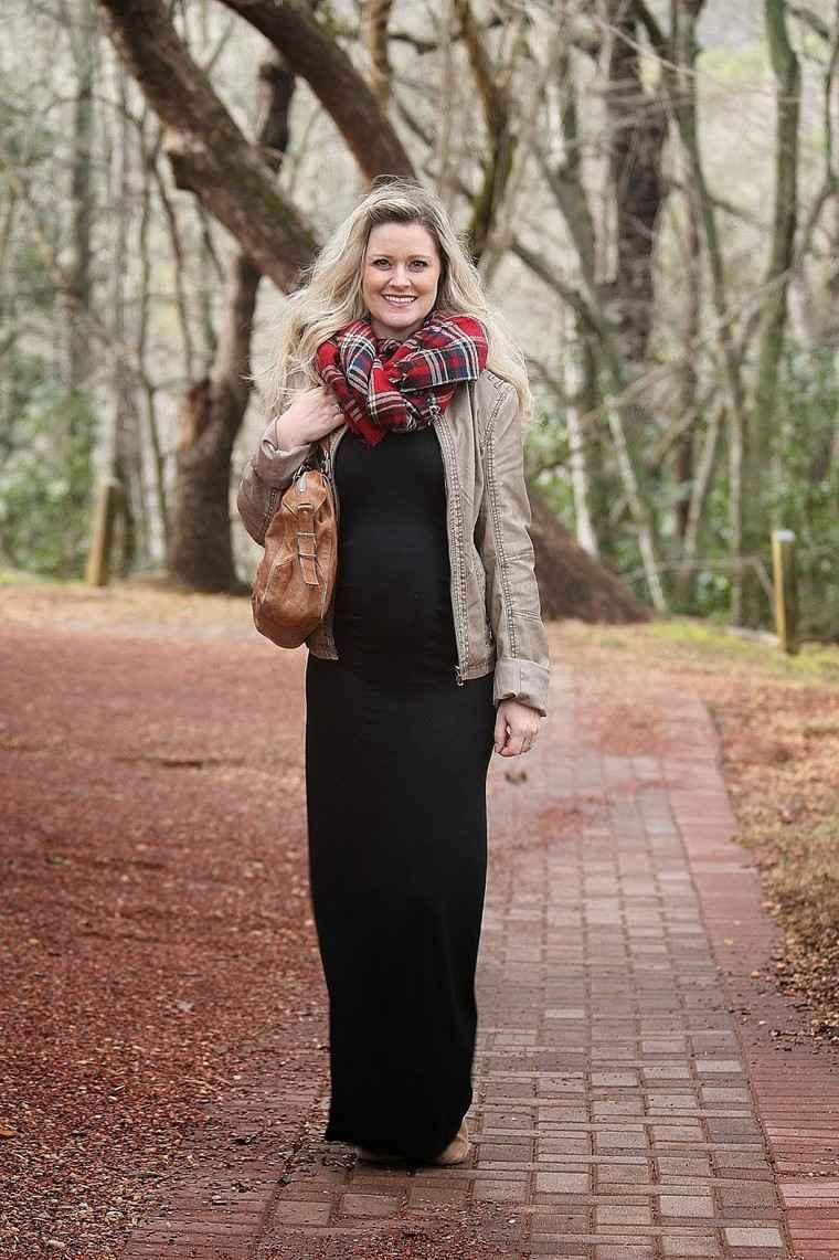 moda premama diseno invierno vestido ideas