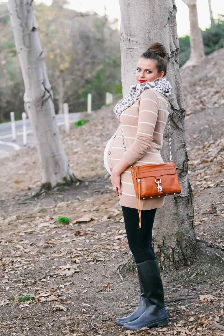 moda premama diseno invierno look moderno mama ideas