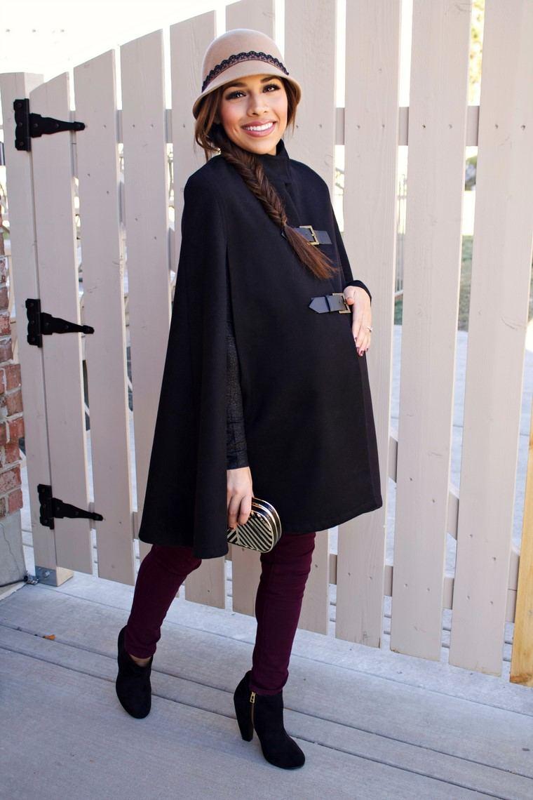 moda premama diseno invierno ropa embarazadas moderna ideas