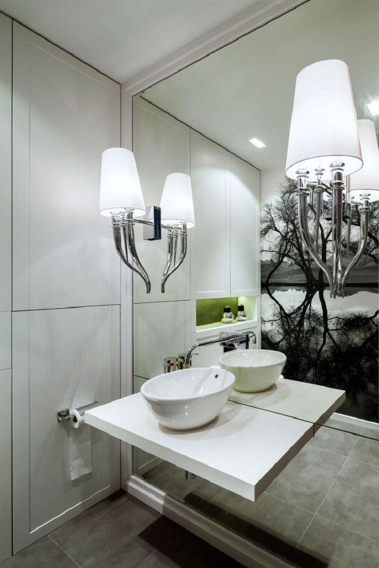 moderno fresco espejos paredes dimensiones