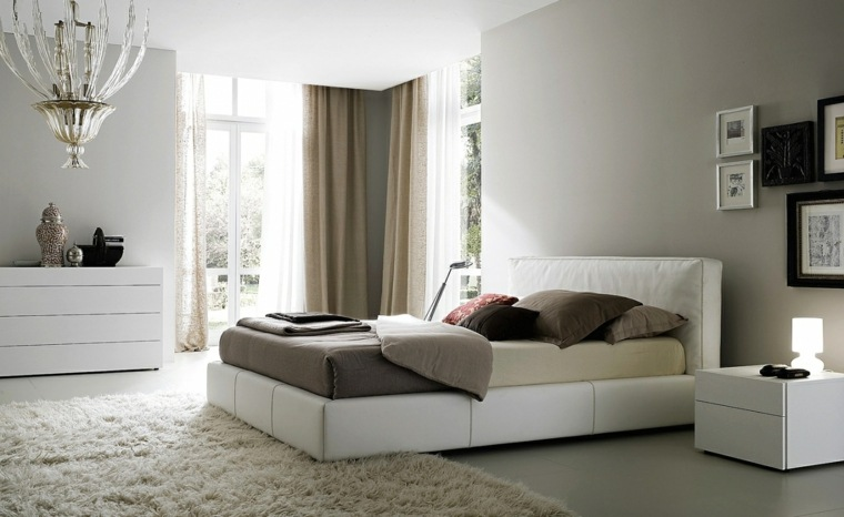 muebles dormitorio moderno color blanco ideas