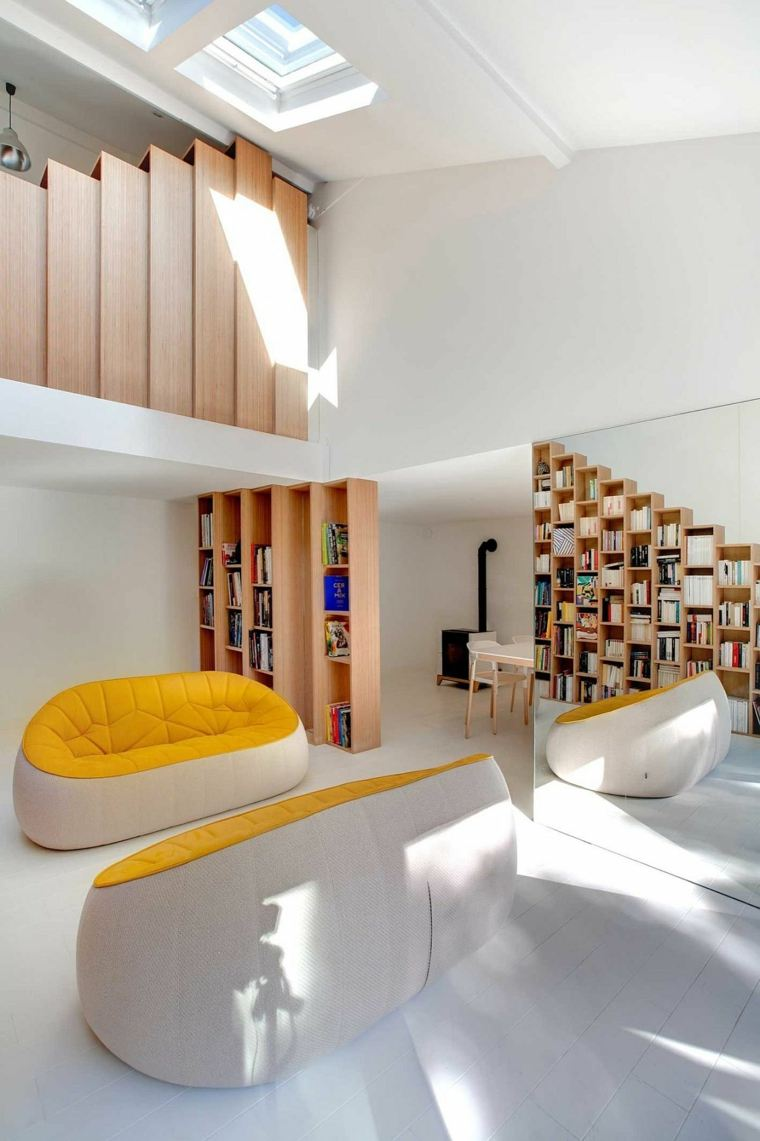 muebles para ahorrar espacio interior elegante