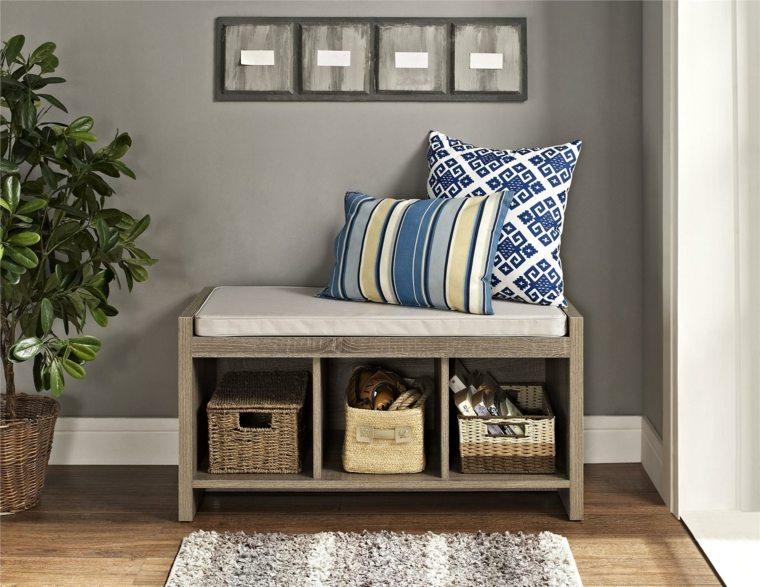 Bancos para recibidor modelos interesantes - Muebles para recibidor pequeno ...