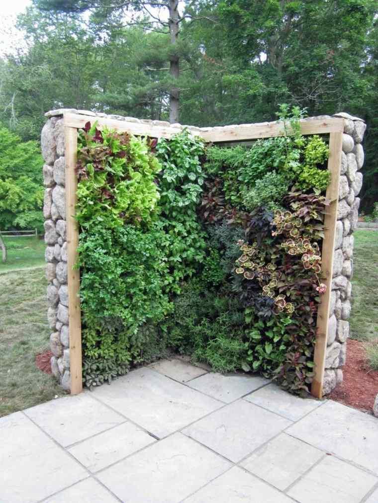 Como hacer un jardin vertical en casa o en el patio - Separador jardin ...