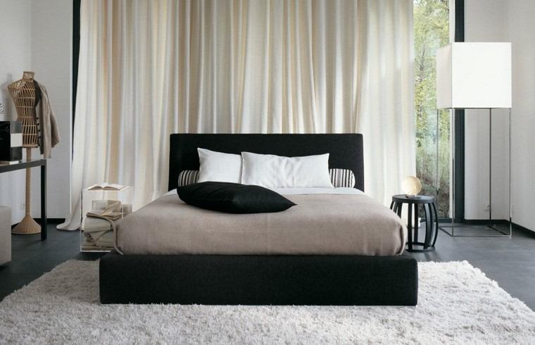 opciones camas color negro dormitorio ideas