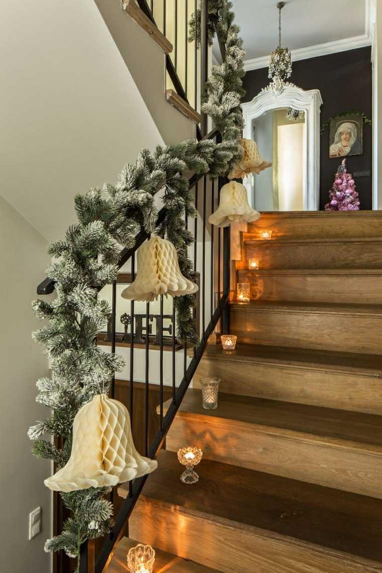 opciones originales decorar escalera navidad opciones