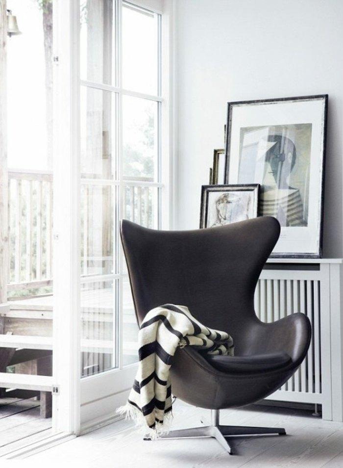 original sillón moderno negro