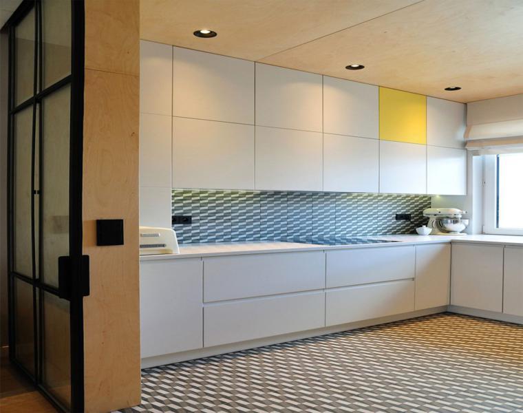 original diseño cocina toque amarillo