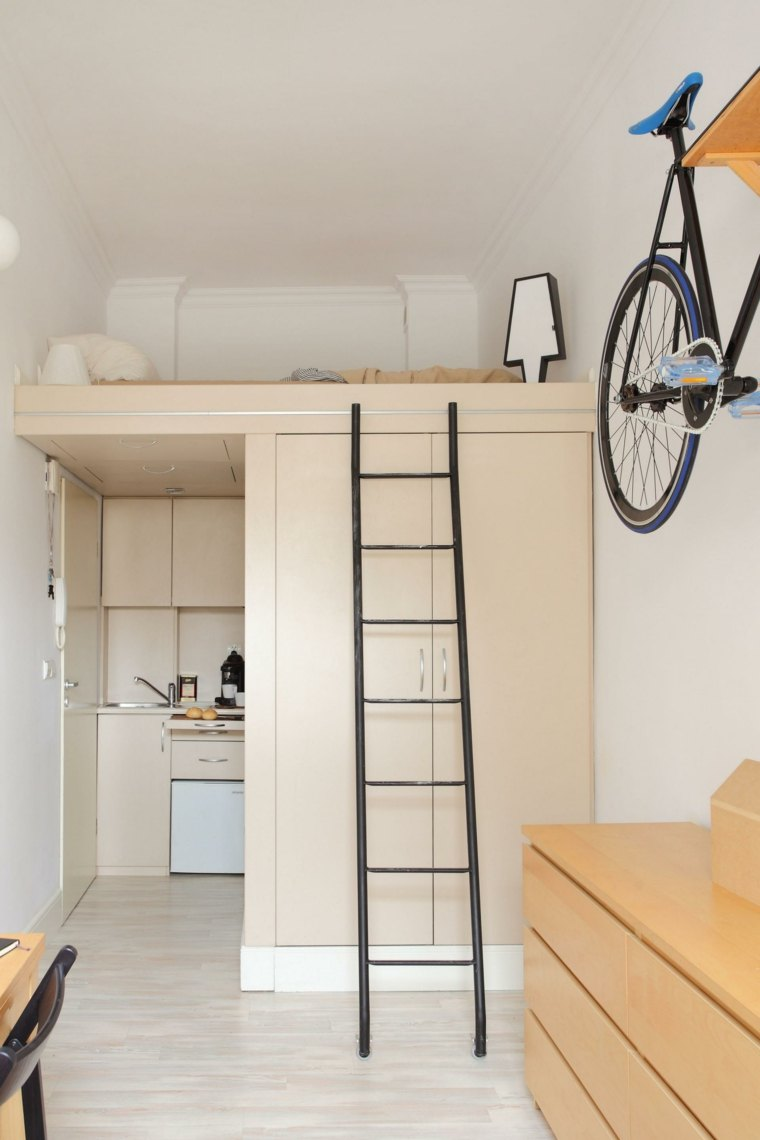 original diseño escritorio madera escalera