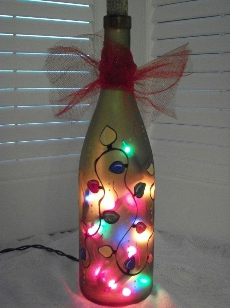 original lampara botella luces navidad