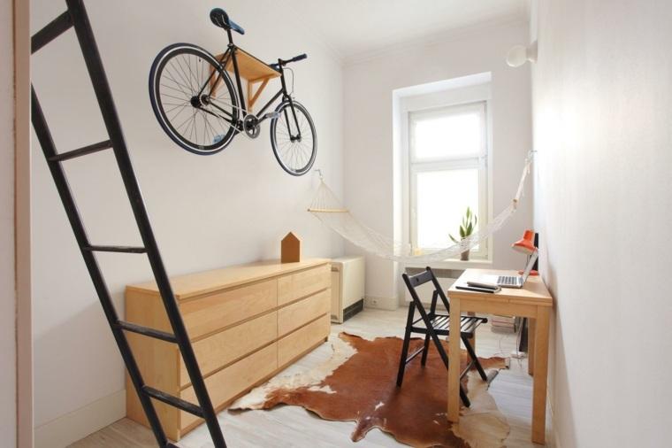 original micro apartamento bici pared