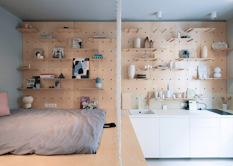 original diseño pared estantes