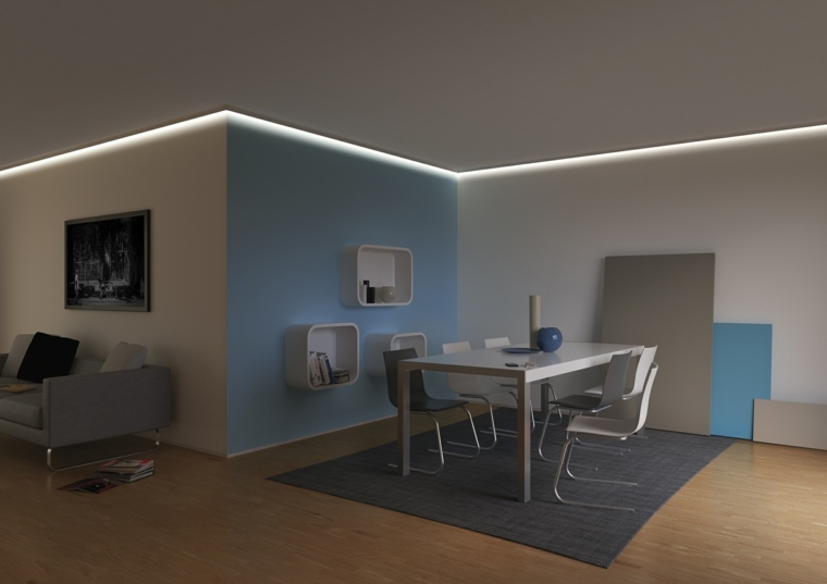 original diseño interior luces Led pared