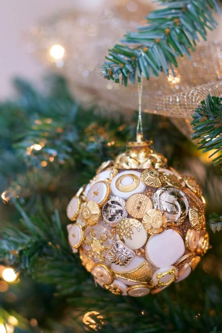 original bola Navidad botones dorados
