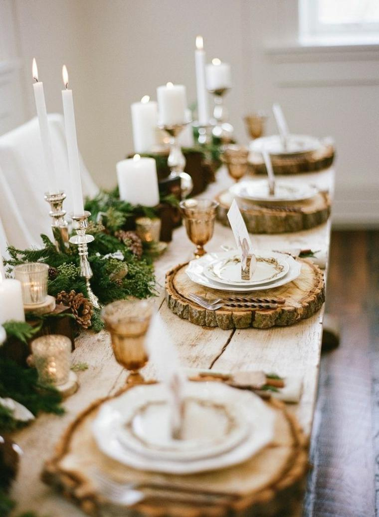 original decoración mesa madera