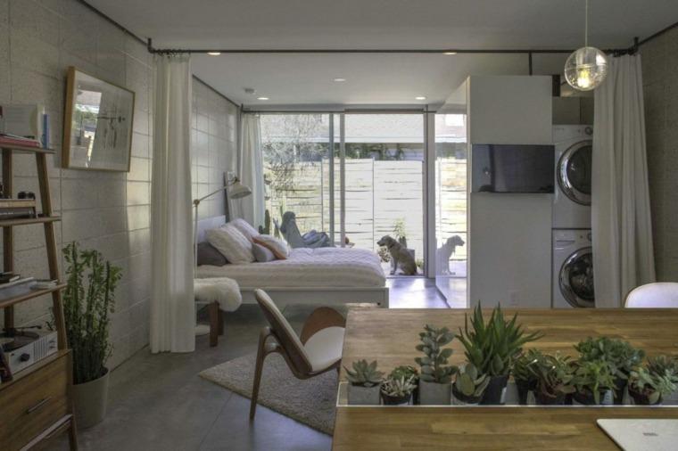 Decoracion pisos peque os menos es m s - Chimenea piso pequeno ...