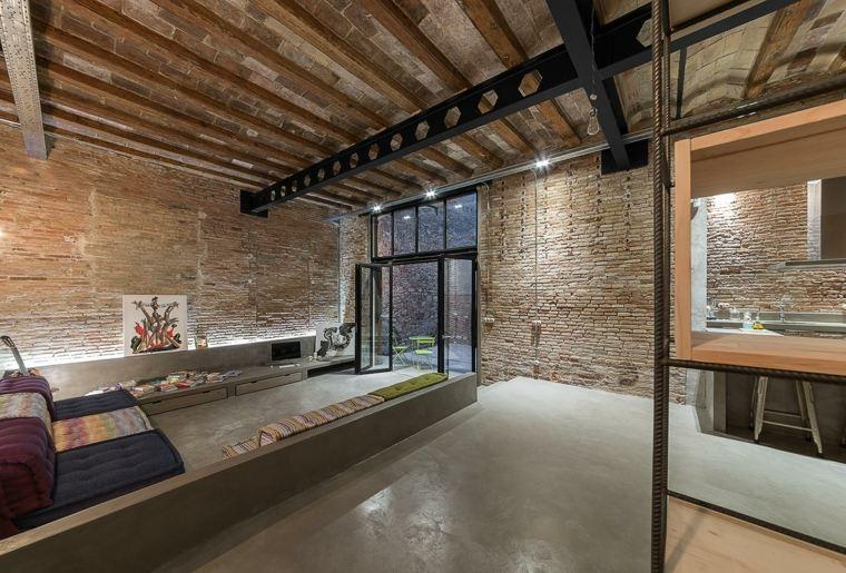 original sala estar techo madera